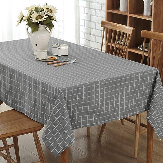 Mantel Cubierta De Tabla Paño En Lino Look Mantel Forma Ovalada Y ...