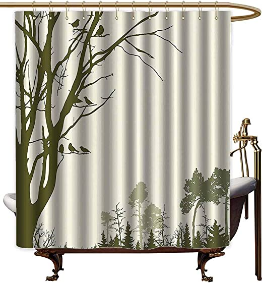 Rudder And Anchor Color Design Bathroom Waterproof Fabric Custom Shower Curtain
