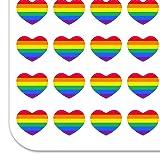 Rainbow Pride Gay Lesbian Contemporary Heart Shaped