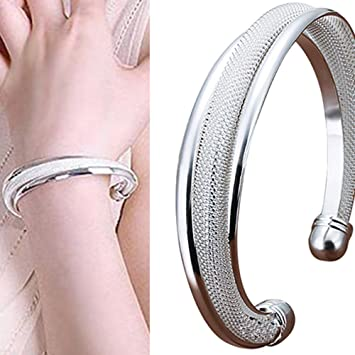 mesh diamond bracelet flexible italian ladies bangles cuff bangle