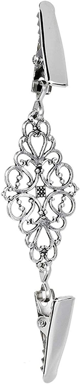 Encounter/_meet pin Duck Clips Flexible Beaded Pearl Pin Brooch Shawl Shirt Sweater Cardigan Collar Clip,E-4