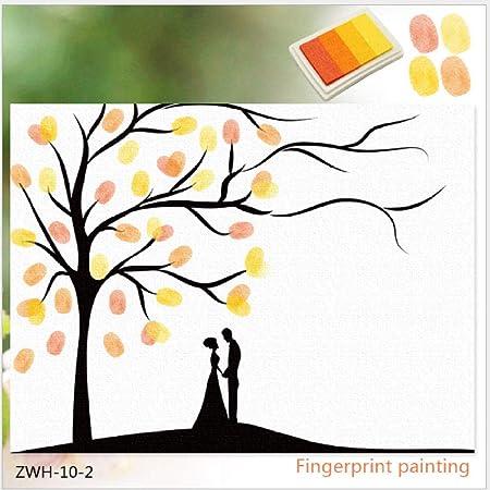 Anniversario Matrimonio Materiali.Impronta Digitale Accedi Disegno Coppia Albero Firma Pittura