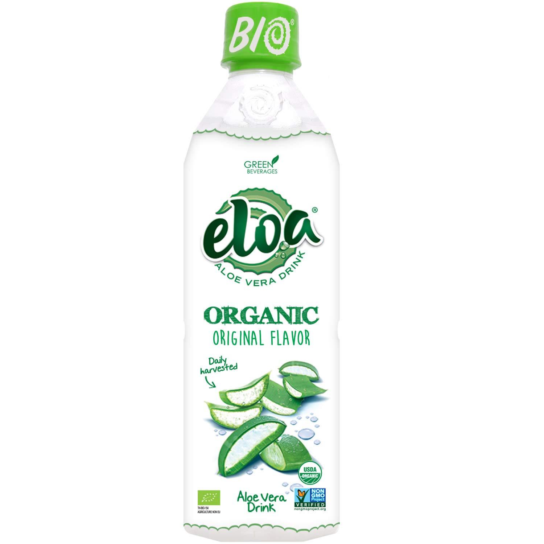ELOA Organic Original Flavored Water Aloe Vera Pulp, Natural Fresh Fruit Flavor Vegan Clean Gluten Free Non GMO Healthy Refreshing Tasty Juice Alternative Infused Drink Beverage, 12 Pack Count