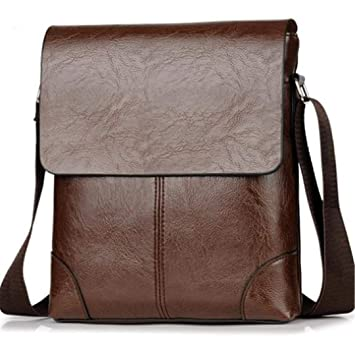 Men/'s PU Leather Shoulder Bag Briefcase Business Handbag Crossbody Tote Bags