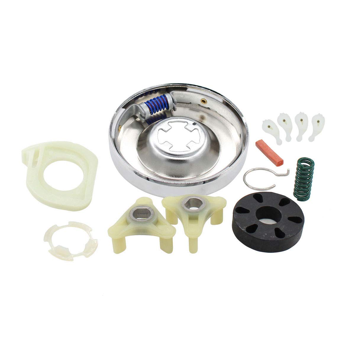ApplianPar 285785 Washer Clutch & 285753A Motor Coupling Assembly Kit and 4Pcs 80040 Washer Agitator Dog for Whirlpool Kenmore Washing Machine 3351342 3946794 3951311 AP3094537 PS334641