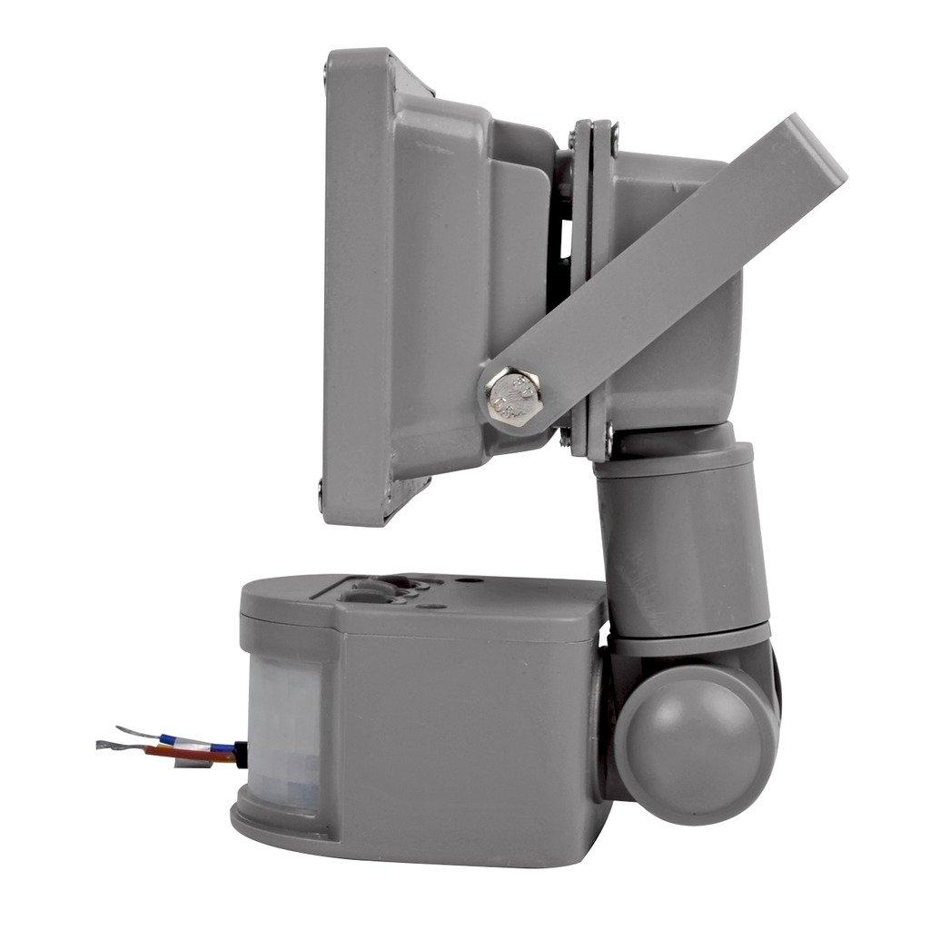 5x Foco Luz LED,10W Sensor de movimiento con Luz inalámbrico para Exteriores incluyendo Patio, Hall, Jardín, Porche y Garaje, Luz eléctrica solar Foco Luz ...
