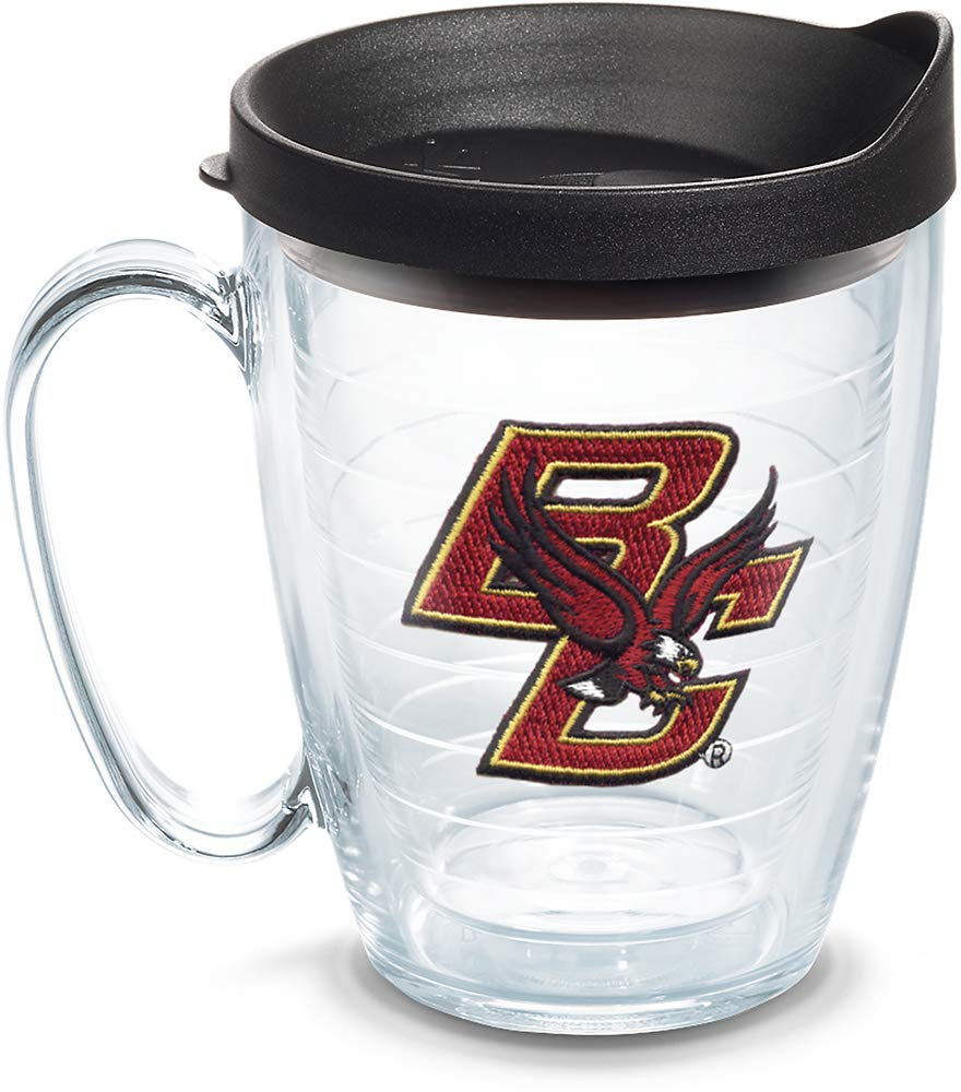 Tervis 1060803 Boston College Eagles Logo Tumbler with Emblem and Black Lid 16oz Mug, Clear by Tervis (Image #1)