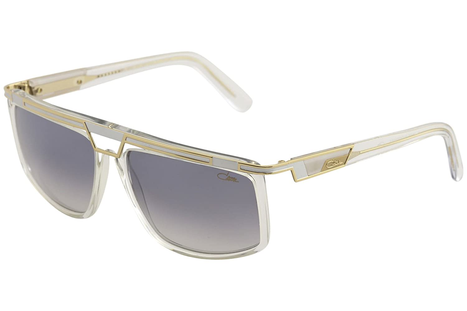 368fc25595c Amazon.com  Cazal 8036 Sunglasses 003SG Crystal-Gold Light Grey Gradient  Lens 62mm  Clothing