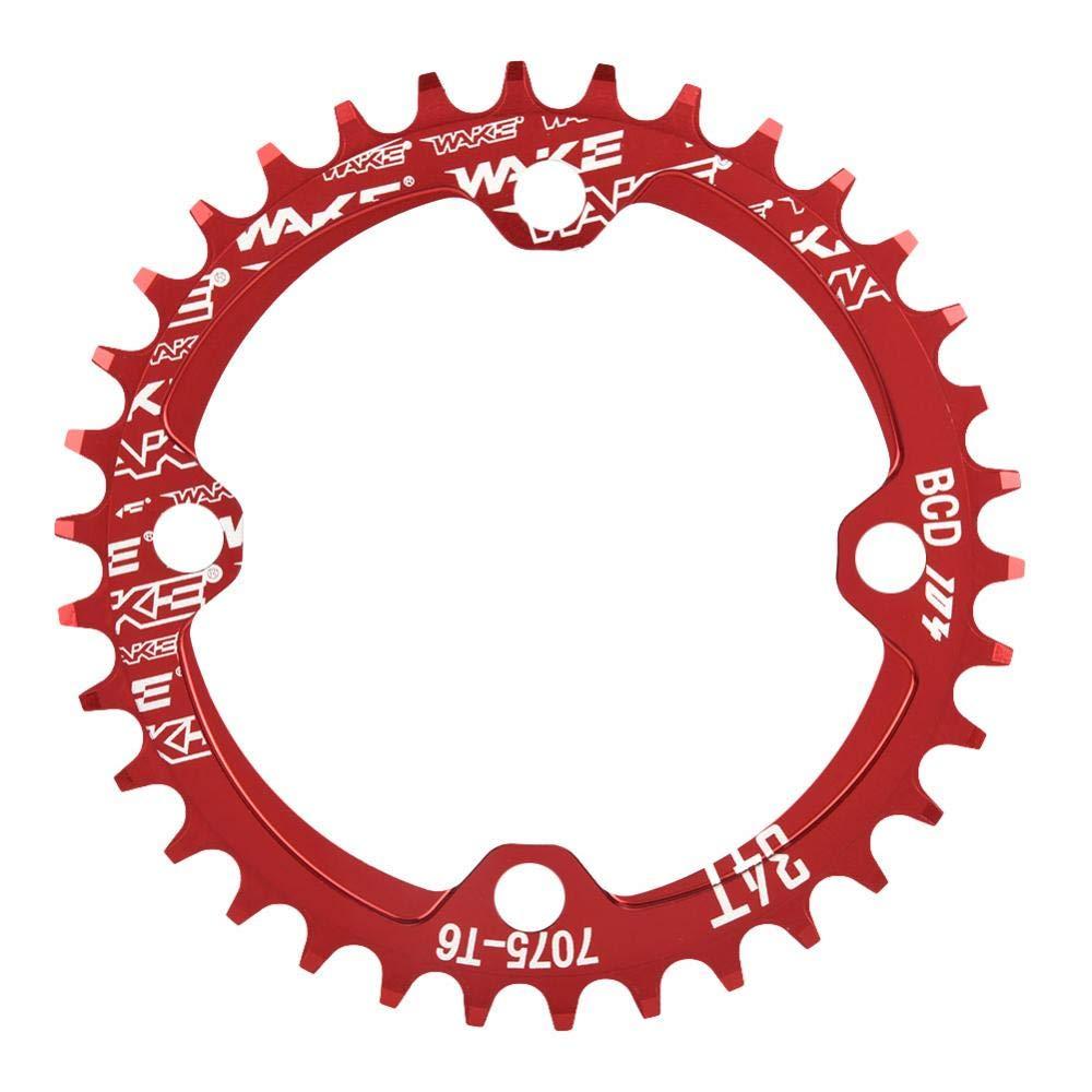 マウンテンバイクチェーンリング アルミ製 軽量 BCD 104 マウンテンバイク シングルクランク 標準 歯チェーンリング 交換用パーツ 36T レッド B07H33VNSV