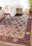 Traditional Vintage Trellis Galore Multi Area Rugs, 5 Feet 3 Inches By 7 Feet 7 Inches (5′ 3″ x 7′ 7″)
