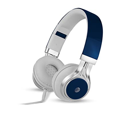 1d5c22eae553ac AT&T HPM10 Over-Ear Stereo Noise Cancelling Headphones with Built-In  Microphone and Extra