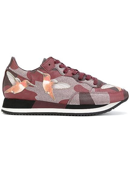Philippe Model - Zapatillas de Gimnasia Mujer, Rojo (Granate), 41: Amazon.es: Zapatos y complementos
