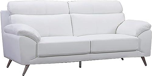 American Eagle Furniture EK528 Modern Top Grain Italian Leather Living Room Sofa