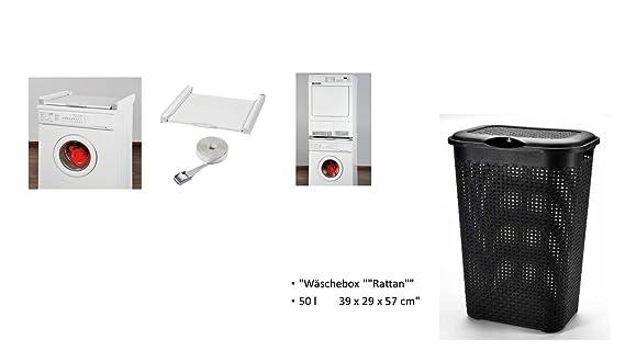 Zwischenbausatz rahmen für trockner auf waschmaschine mit