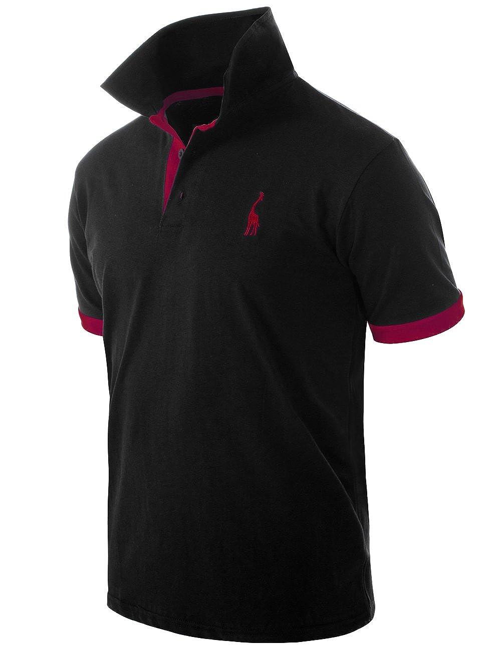 935a89752 Glestore Mens Polo Shirts Giraffe MT1030 Golf Tennis T-Shirt: Amazon.co.uk:  Clothing