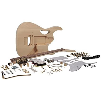 Kit de guitarra eléctrica Seismic Audio - SADIYG-15 – Estilo JEM DIY, kit