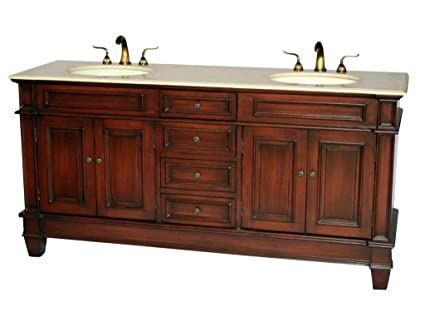 Perfect 72 Inch Traditional Style Double Sink Bathroom Vanity Model 2503 505 BE