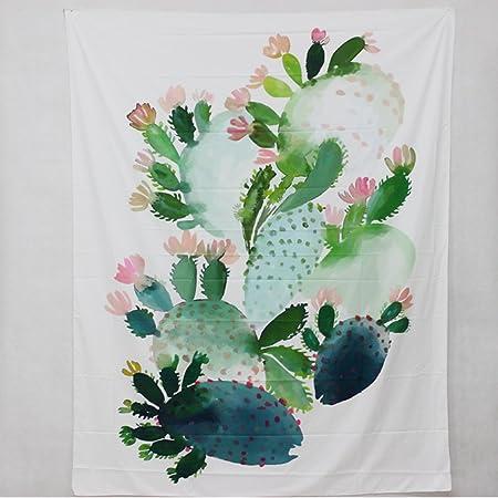 Cactus zhh paisaje Tropical tapiz colgante de pared Mandala ...