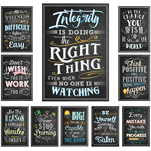 (Learning Ladder Set of 10 Chalkboard Style Motivational Classroom Posters (13