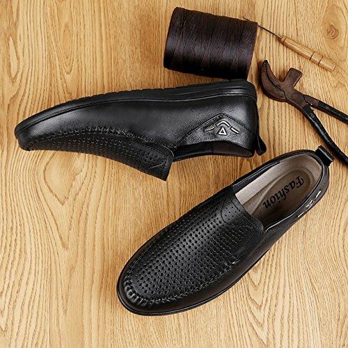 Scarpe ritaglio tempo il dimensioni Gentleman in pelle dimensioni Colore pelle vera Nero da libero design Nero 39 Scarpe per lavoro pelle Grandi in estivi da in con Sandali uomo rxUnarqzZ
