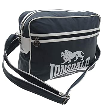 Lonsdale Flight Bag Navy White Messenger Holdall Carryall  Amazon.co.uk   Luggage 9eb94660add28