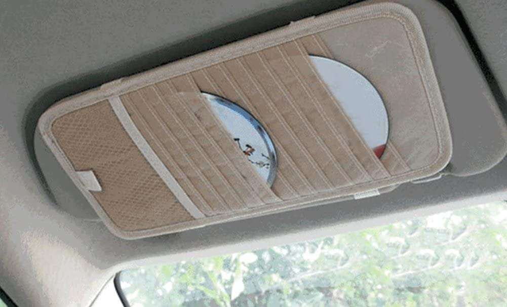 Chytaii Multifunktionale Auto Sonnenblende Tasche Auto CD Organizer Kartenhalter Stifthalter