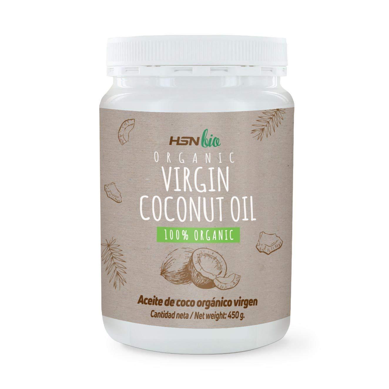 Aceite de Coco Virgen Extra Orgánico de HSN Bio - 100% Natural - Energía Instantánea para Deportistas - Fuente de MCTS (Triglicéridos de Cadena Media) ...