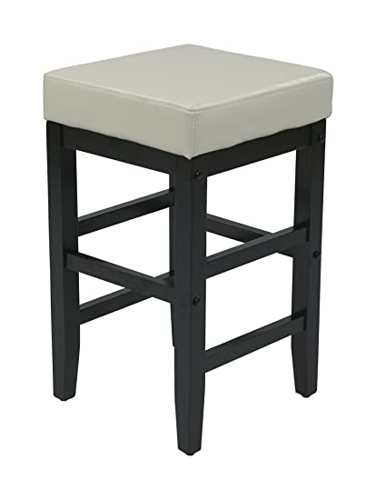Amazoncom Office Star Metro Faux Leather Square Barstool With