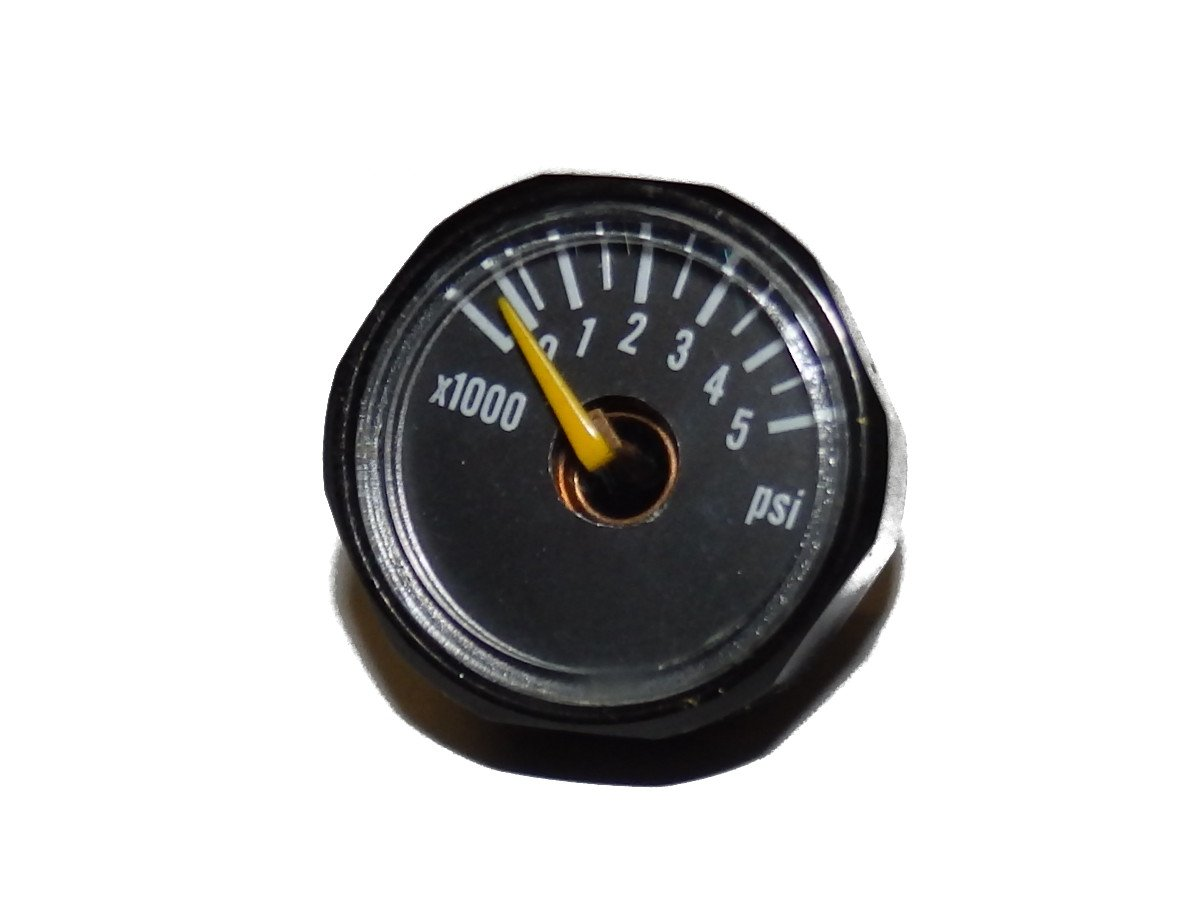 5000 PSI Gauge for Paintball Air Tank by Captain O-Ring (5k Gauge Black, Compatible with 3k and 4.5k Tanks) by Captain O-Ring LLC