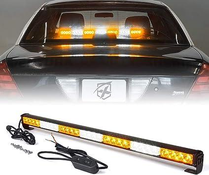 14 inch LED White Amber Yellow Bar Emergency Truck Strobe Flash Light Warn Truck