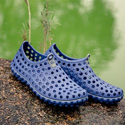 Cómodo zapatos respirables blue de hombres Los Summer agua sandalias obstruyen los Slippers Beach qHafzUwn