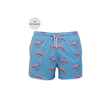 2ced6532df Bermies Original Pink Lobster Swim Short: Amazon.co.uk: Clothing