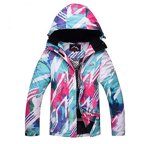 Zjsjacket Traje de Esqui Mujeres Chaqueta de esquí Chaqueta de Snowboard Caliente al Aire Libre Abrigo