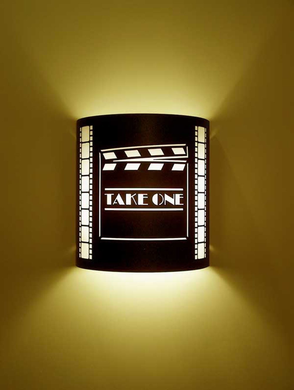 Take One Director Black Home Movie Theater Sconces w/ Filmstrips