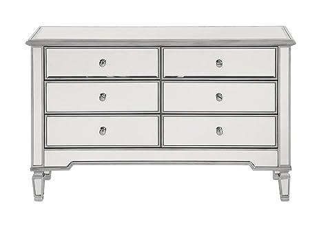 Amazon.com: Gabinete de almacenamiento en acabado de plata ...