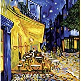 "DiyOilPaintings Paintworks Paint By Number 20""x16"", the Cafe Terrace, Cafe Terrace At Night, Origin Paintings By Van Gogh"