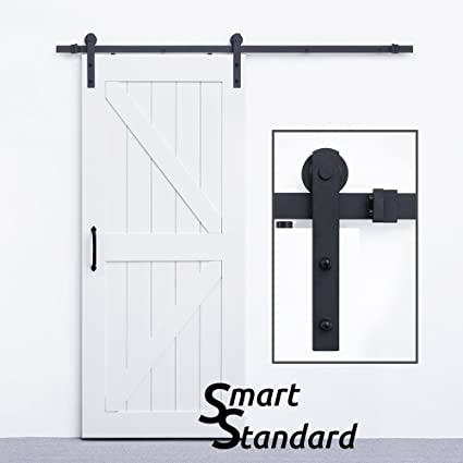 Charmant SMARTSTANDARD 6.6ft Heavy Duty Sturdy Sliding Barn Door Hardware Kit    Super Smoothly And Quietly