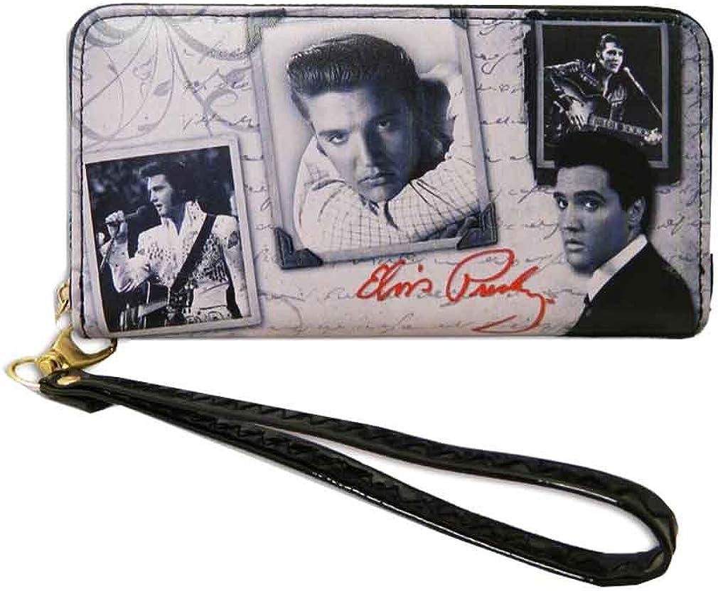pink Elvis Presley Credit Card Case six card slots Love Me Tender aluminum