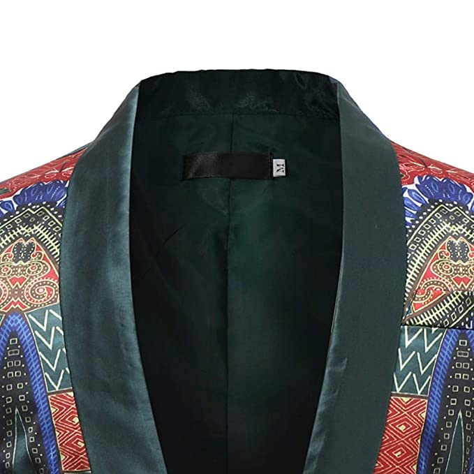 HHei_K Mens African Printed Long Sleeve Cardigan Jacket Casual Dashiki Coat at Amazon Mens Clothing store: