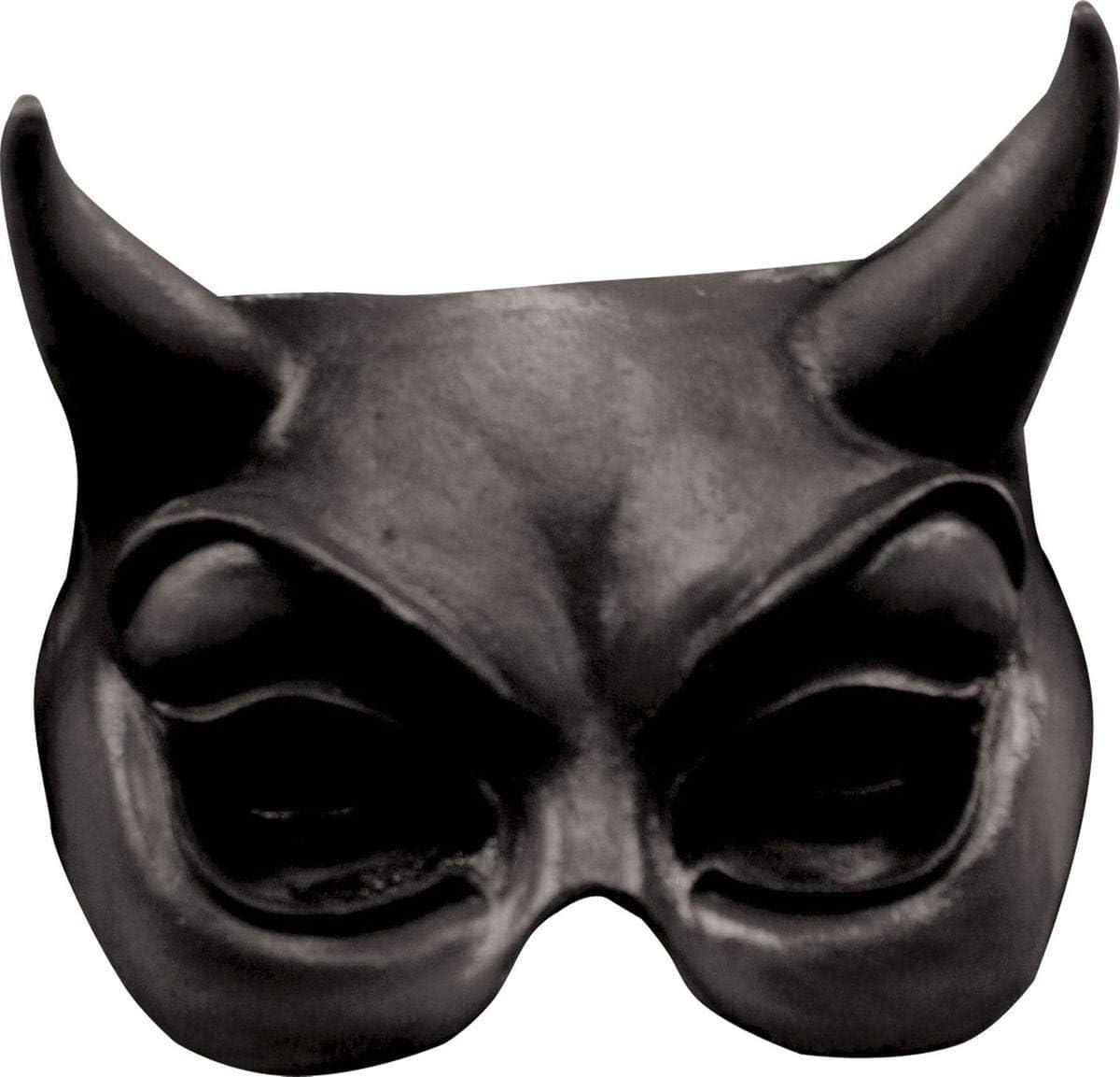 GHOULISH Semi máscara de Diablo Rojo - Negro