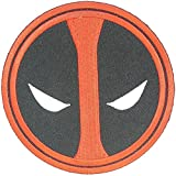 Deadpool Movie Patch Marvel Superhero EYES GLOW IN THE DARK PATCH Halloween Robe Costume Embroidery Patch Easy Iron/Sew On