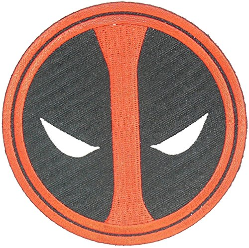 Deadpool Movie Patch Marvel Superhero EYES GLOW IN THE DARK PATCH Halloween Robe Costume Embroidery Patch Easy Iron/Sew On by Mr Patches