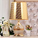 HH Simple Modern Style Bedroom Bedside Lamp Warm Glass Lamp
