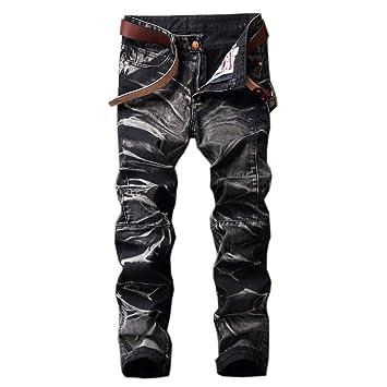 Jxth Pantalones Casuales de los Hombres Pantalones Vaqueros ...