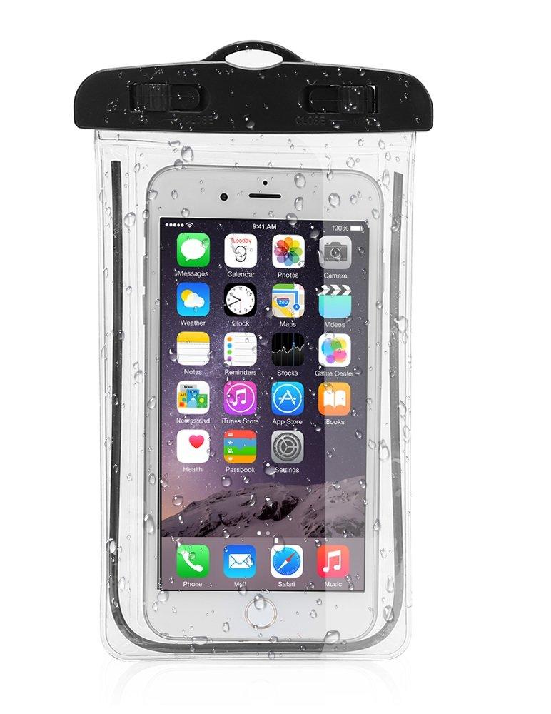 PHONILLICO Sac Waterproof Noir pour Huawei Honor 5C 5X 6A 6C 6X 7A 7X 8 9 P8 P9 P10 P20 Y5 Y6 Housse Etui Boitier Pochette Lumineux Protection Tactile Imperm/éable Etanche Prot/ège Eau Sable Terre