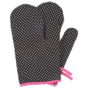 Lqchl Resistente Denim guantes para horno para mujeres adultas ...