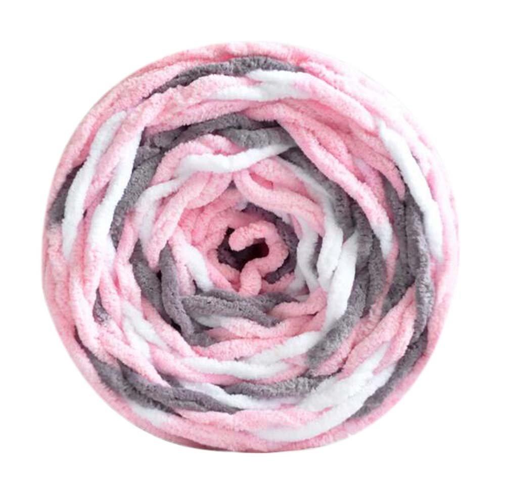 rosa Blancho Set aus 3 Milch Baumwollgarnen handgewebter Schal gemischte Farbe weiche Garne