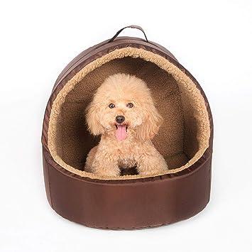 MIAO Cama De Mascota De Yurta De Cueva De Mascota De Cama De Perro De Gato De Lujo,Brownm: Amazon.es: Productos para mascotas