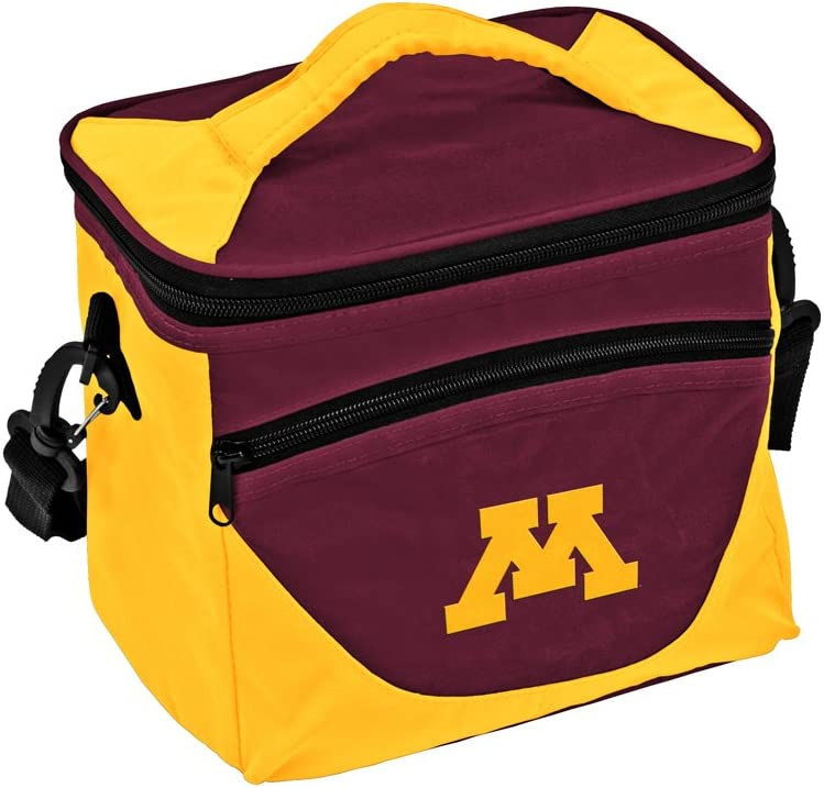 Logo Brands NCAA Minnesota Golden Gophers Unisex Adult Halftime Lunch Cooler Bag with Front Dry Storage Pocket and Shoulder Strap, One Size, Multicolor