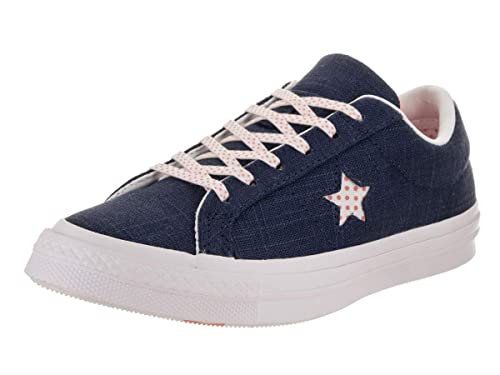 ba2482dd1767 Converse Unisex One Star Ox Navy Pale Coral White Casual Shoe 5 Men ...
